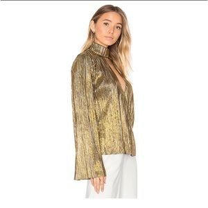 House of Harlow 1960 x REVOLVE Gold Lynn Blouse